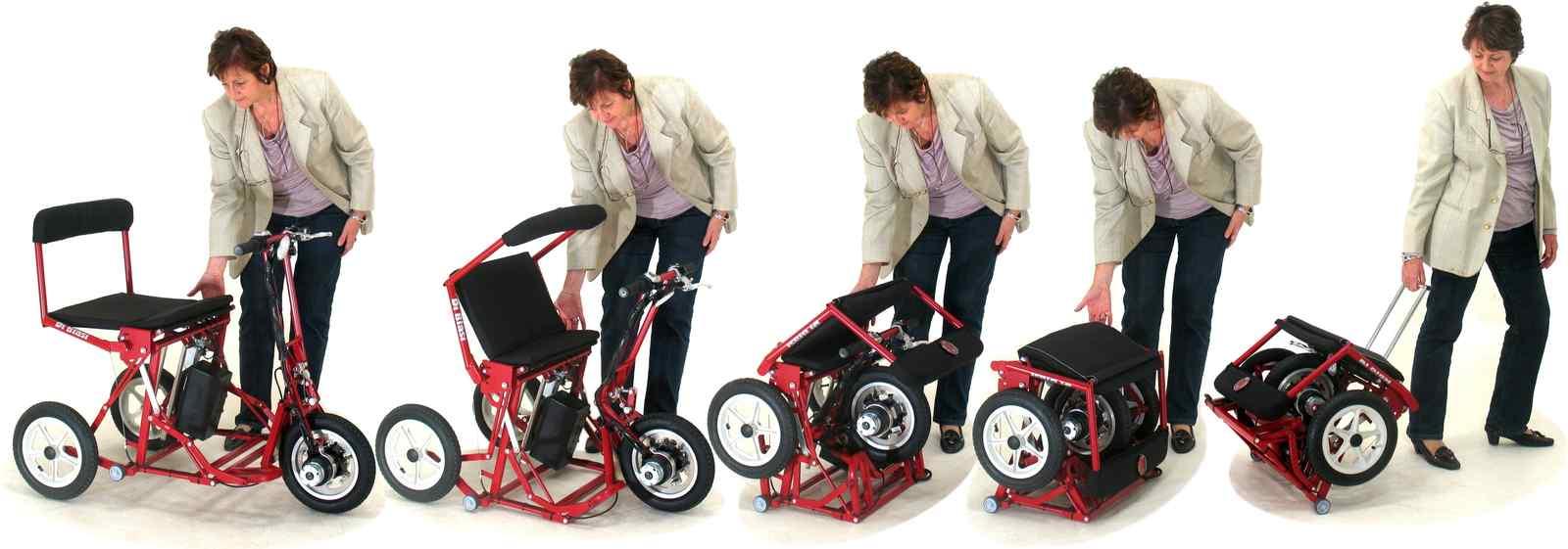 Scooterelettrico pieghevole automaticamente DI BLASI Mod. R30